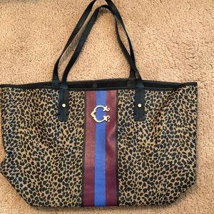 C. Wonder Leopard Striped Tote Bag